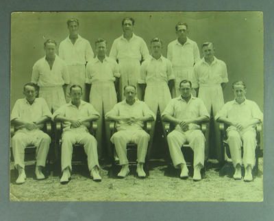 Photograph:  Australian Cricket Team. Brisbane  December 1946