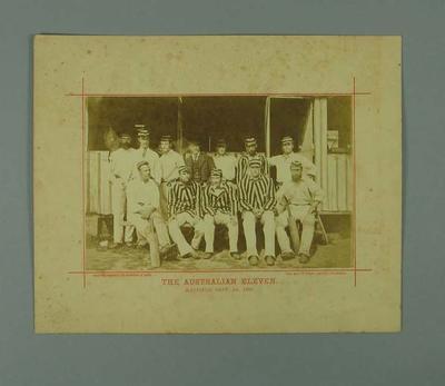 Photograph - Australian Eleven, Hastings, 1st September 1880; Photography; M7629