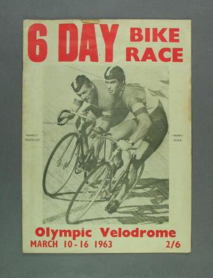 Programme - 6 Day Bike Race, 10-16 March 1963