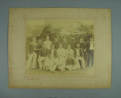 Group photograph of Australian Cricket Team during tour of England 1888