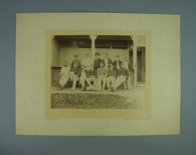 Photograph of Australian Cricket Team & others, England tour, Hastings  1888