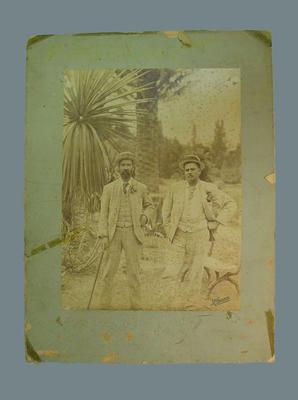 Photograph of John McCarthy Blackham & Arthur Harwood Jarvis, Adelaide c.1892; Photography; M7624