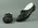 Pair of black cycling racing shoes, worn by Eric Gibaud c1930s-50s