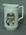 Ceramic jug with printed portrait of Jack Hobbs