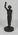Bronze cricket figure sculpted by J. Durham, c. 1863