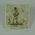 Ceramic 'Pickwick' tile, cricketer in top hat carrying a bat