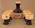 Ceramic port decanter with images of MCG, Centenary Test 1877-1977