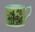 Staffordshire ceramic mug with cricket scene and hunting scene on either side
