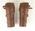 Pair of leather leggings worn by P.A. Pavey, Australian Shooting Team member