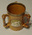 Tankard with three arms, cricket designs