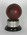 Mounted, autographed red leather cricket ball used by Arthur Theodore Wallace Grout at Wanderers Ground, Johannesburg 23rd-28th December 1957