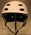White ski helmet used by aerial skier Lydia Lassila at the 2010 Winter Olympics in Vancouver.