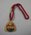 Melbourne Cricket Club membership medallion, 1969/70, with red lanyard