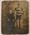 Photograph of Albert Broomham and an unidentified man, circa 1909.