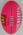 Pink Sherrin Australian football used during the 2019 AFLX tournament