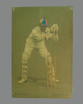 Print of cricketer Henry Martyn from a lithograph by A. Chevallier Tayler 1905