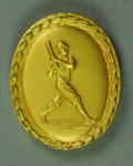Medallion presented by Old Gold Baseball Club for valuable services, 1939