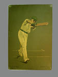 Print of cricketer John Herbert King from a lithograph by A. Chevallier Tayler 1905