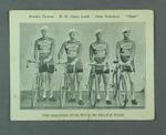 Trade card depicting 1931 Malvern Star Tour de France team, c1935