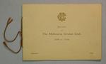Booklet: 'Souvenir of  The Melbourne Cricket Club, 1838 - 1934', Melbourne 1934