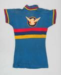 Blue cycling shirt worn by Bert Smith c. 1930