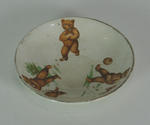 Small plate, depicts bears playing cricket