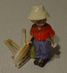 """Boy cricketer figurine titled:   """"Out First Ball"""""""