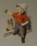 """Boy cricketer figurine titled:   """"Good Enough For His County"""""""
