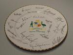 "Commemorative plate, ""Australia 1977 Touring cricket team"""
