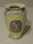 Vase, image of boy cricketer
