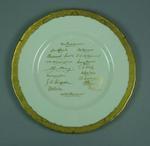 Plate, printed signatures of 1938 Australian Cricket Team