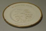 "Plate, ""New Zealand Cricket Team - 1958"""