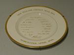 "Plate, ""New Zealand Cricket Team 1973"""