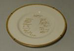 """Plate, """"India Touring Side - England 1952"""""""