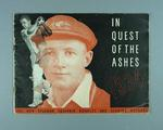 """Booklet, """"In Quest of the Ashes - 1934"""""""