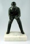 Bronze figurine of a cricket wicketkeeper by J. Durham, c. 1863