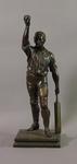 Bronze figurine of a cricketer