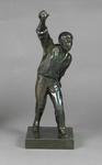 Bronze figurine of a cricket bowler by J. Durham, c. 1863