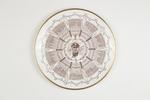 Century of Centuries plate featuring cricketer J.B. Hobbs