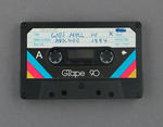 Audio cassette with recording of Wes Hall speaking in Adelaide, 1984