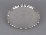 Silver tray presented to Wally Hammond by the Marylebone Cricket Club, 1938-39