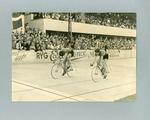 Photograph of Sid Patterson winning World Amateur Sprint Championship in Copenhagen, 1949