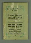 Official handbook of the Lawn Tennis Association of Victoria, 1931
