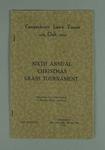 Programme for Camperdown Lawn Tennis Club Annual Christmas Grass Tournament, 26-31 December 1923