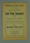 Programme for Melbourne Cricket Club Autumn Lawn Tennis Tournament, 1924