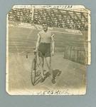 Black and white photograph of cyclist W. Erskine, 24 November 1921, America