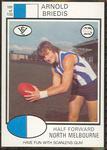 1975 Scanlens VFL Football Arnold Briedis trade card