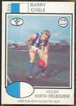 1975 Scanlens VFL Football Barry Cable trade card