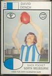 1975 Scanlens VFL Football David Dench trade card