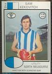1975 Scanlens VFL Football Sam Kekovich trade card
